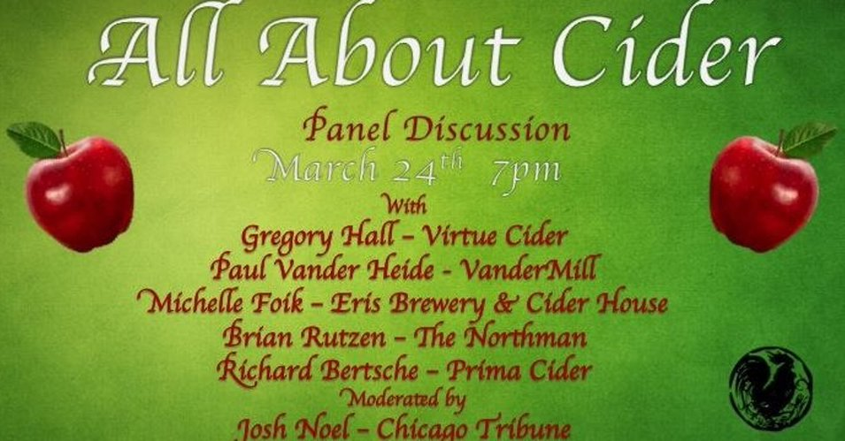 """All About Cider"", a panel discussion Thurs. Mar. 24th @ Jerry's"